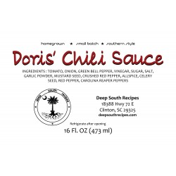 Doris' Chili Sauce