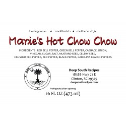 Marie's Hot Chow Chow